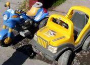 Se venden moto y jeep de niños.
