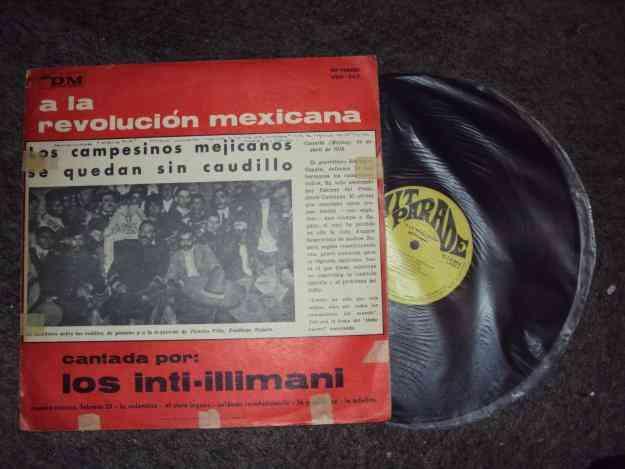 Vinilo de Intiillimani (cantado a la revolución mexicana)  Talca