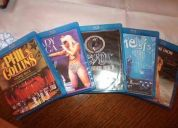 Blu-ray genesis - celine dion - phil collins - otros