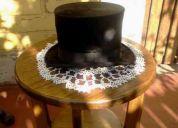 Vendo 2 sombreros de copa  piel de foca negros 50.000  cada uno