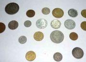 Vendo lote de 460 monedas antiguas chilenas desde 1892 hasta 1970