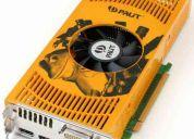 Vendo nvidia 9600gt 512 mb impecable con todos sus accesorios
