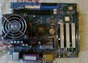 Vendo placa madre pc-vt8601t + procesador celeron sl68p intel 1200/256/100/1.5+ventilador