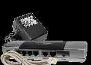 Router, netmate de 4 puertos router de banda ancha (plata / negro)