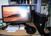 Liquido!!!  pc acer aspire ax3910-s4012 + monitor 23 touch  full hd (nuevo)