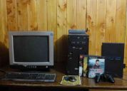 Pc + play station 2