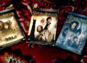 Trilogía el señor de los anillos- the lord of the rings 6 dvd originales