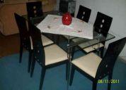 Se vende comedor de 6 sillas $ 90.000 conbersable
