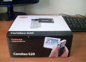 Toshiba camileo s20 full hd + memoria sdhc 16gb $80.000.-