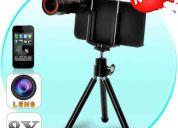 Lente zoom optico con tripode 8x para iphone 4