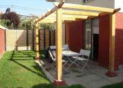 Pergola de madera rectangular 4.5m x 2.2m