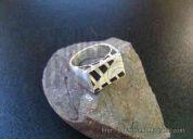 anillo plata 950 esmalte
