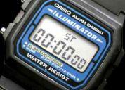 reloj vintange casio f -105 iluminator
