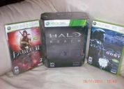 Vendo 3 juegos xbox360 halo reach+halo 3+fable ii