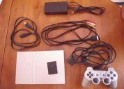 Playstation 2 ps2 slim silver como nueva (desbloqueada) + memory card 16 mb