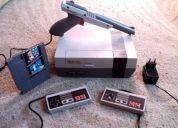 Nintendo nes funcionando a la perfeccion + juego + pistola ploma original +2 controles