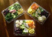 Ventas de ensaladas vegetarianas en formato bandeja sanas y frescas