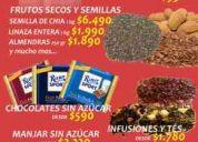 venta de alimentos sin azúcar, frutos secos, equipamiento de control y art. deportivos