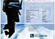 Motor fuera de borda mercury seapro 55hp , pata extra larga (nuevo)