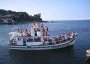 AÑo nuevo en lancha/yate turistico en mar de valparaiso con champagne abordo
