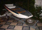Vendo lindo bote de pesca con techo y carro