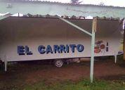 Oferta . vendo carro de arrastre para comida rapida completamente equipado ¡gran capacidad