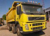 vendo camion tolva, marca volvo fm440, 2008, 8x4, tolva 20mts. 65.000 kms