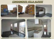 1.200uf lindo departamento en condominio villa alegre, 057/312842