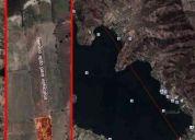 Parcela 5000 mts laguna aculeo 50m de orilla y playa arena