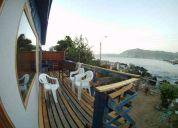 casa frente al mar, caleta quintay, pasos del buceo, ballenera, restaurans