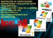 Mantencion computadores notebook todos los sistemas operativos