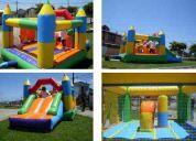Arriendo de juegos infantiles: inflables, camas elásticas, animaciones infantiles