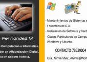 Se ofrece tecnico en computacion e informática, capacitador en alfabetización digital