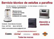 Servicio técnico de estufas a parafina