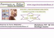 Peeling facial c/ microdermoabrasiÓn ó quÍmico + hidrataciÓn nutriciÓn *ofertas*
