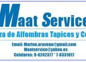 Empresa presta servicios de limpieza de alfombras a domicilio