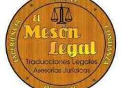 El mesÓn legal - traducciones inglés-español-inglés