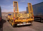 Arriendo camiones camas bajas ramplas extensibles