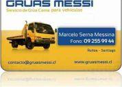 Urgencias, gruas messi  09 255 99 44   para autos y motos. remolque