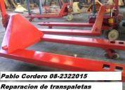 Reparacion y mantencion de transpaletas manuales