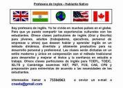 Profesora de ingles - hablante nativo
