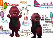 Evento barney  celebra tu fiesta de cumpleaños con barney = al original