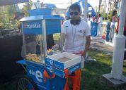 Arriendo carrito de cabritas popcorn para cumpleaÑos y eventos
