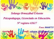 Solange ormazábal c. psicopedagoga, licenciada en educación
