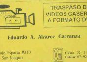 Traspaso de videos caseros a formato dvd