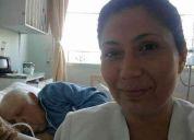Paramedico . disponibilidad en cuidados de enfermos.