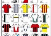 Camisetas, equipos y estampados.