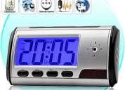 Reloj de mesa con camara de video oculta ideal para ver como cuidan a tus hijos en casa
