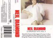 Neil diamond 12 greatest hits vol ii cassette original excelente estado