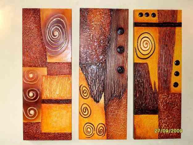 Cuadros oleos abstractos etnicos modenos - Cuadros con texturas abstractos ...